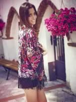 Kwiatowe kimono z frędzlami                                  zdj.                                  8