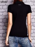 LIU JO Czarna koszula z koralikową aplikacją                                  zdj.                                  3