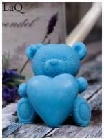 LaQ Mydełko Duży miś z sercem - niebieski / Zapach - wata cukrowa BEZ SLS i SLES                                  zdj.                                  3