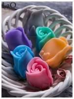 LaQ Mydełko Kwiat róży - szary / Zapach - wata cukrowa BEZ SLS i SLES                                  zdj.                                  3