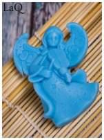 LaQ Mydełko Mały aniołek - niebieski / Zapach - wata cukrowa BEZ SLS i SLES                                  zdj.                                  2