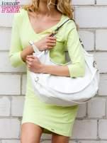 Limonkowa sukienka z trójkątnym dekoltem                                  zdj.                                  3