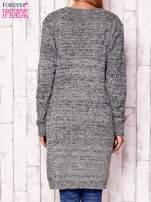 Melanżowy długi sweter z kieszeniami                                  zdj.                                  4