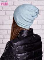 Miętowa gładka czapka beanie