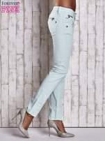 Miętowe spodnie ze stretchem                                  zdj.                                  3