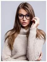 Modne okulary zerówki klasyczne - soczewki ANTYREFLEKS,system FLEX na zausznikach                                  zdj.                                  1
