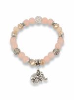 Morelowo  - srebrna Bransoletka koralikowa                                                                          zdj.                                                                         1