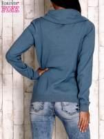 Morski sweter z szerokim golfem                                  zdj.                                  3