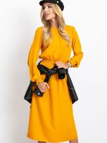 Musztardowa sukienka Saffire                                  zdj.                                  1