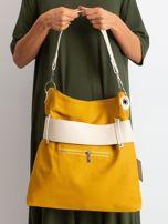 Musztardowo-beżowa torba ze skóry ekologicznej                                  zdj.                                  3