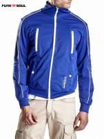 Niebieska bluza męska z kieszeniami na suwak Funk n Soul                                  zdj.                                  4