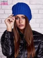 Niebieska czapka z dużym pomponem                                  zdj.                                  1