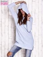 Niebieska dresowa sukienka bluza z naszywkami                                                                          zdj.                                                                         5
