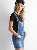 Niebieska jeansowa spódnica na szelkach                                  zdj.                                  3