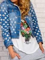Niebieska kurtka jeansowa z koronką                                  zdj.                                  6