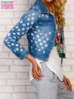 Niebieska kurtka jeansowa z koronką                                                                          zdj.                                                                         4