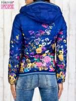 Niebieska kurtka z kwiatowym motywem                                                                          zdj.                                                                         5