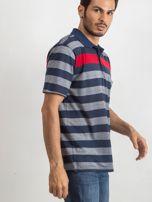 Niebieska męska koszulka polo Stampede                                  zdj.                                  3