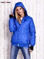 Niebieska ocieplana kurtka narciarska z kapturem FUNK N SOUL                                  zdj.                                  5