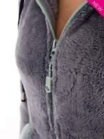 Niebieska polarowa bluza miś z kapturem z uszkami                                  zdj.                                  7