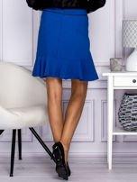 Niebieska spódnica z falbaną                                  zdj.                                  3