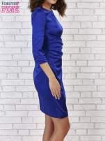 Niebieska sukienka z białą kokardą                                   zdj.                                  2