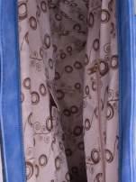 Niebieska torba city bag na ramię                                                                          zdj.                                                                         5