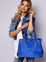 Niebieska torba miejska na ramię                                  zdj.                                  1