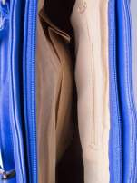 Niebieska torba shopper bag z odpinanym paskiem                                  zdj.                                  5