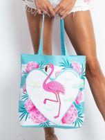 Niebieska torba z flamingiem                                  zdj.                                  1