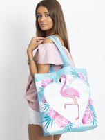 Niebieska torba z flamingiem                                  zdj.                                  6