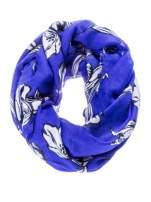 Niebieski szal w piórka                                                                          zdj.                                                                         2