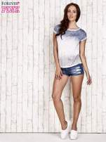 Niebieski t-shirt w ciapki                                  zdj.                                  2
