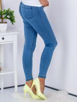 Niebieskie dopasowane jeansy high waist ze stretchem                                  zdj.                                  3