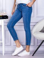 Niebieskie gładkie jeansy regular PLUS SIZE                                  zdj.                                  3