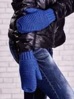 Niebieskie grube rękawiczki na jeden palec                                  zdj.                                  1