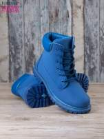 Niebieskie jednolite buty trekkingowe Westie damskie traperki ocieplane                                  zdj.                                  4