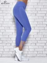 Niebieskie legginsy sportowe 7/8 z wiązaniem                                  zdj.                                  2