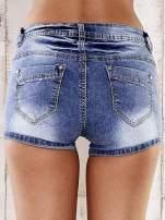 Niebieskie marmurkowe szorty jeansowe                                   zdj.                                  2