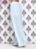 Niebieskie plisowane spodnie palazzo                                                                           zdj.                                                                         5