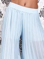 Niebieskie plisowane spodnie palazzo                                   zdj.                                  2