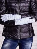 Niebieskie rękawiczki z ażurową warstwą                                  zdj.                                  2