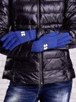 Fioletowe rękawiczki z nadrukiem oczu                                                                          zdj.                                                                         2