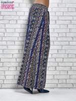 Niebieskie spódnica maxi w zteckie wzory