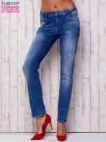 Niebieskie spodnie jeansowe marble denim                                  zdj.                                  1