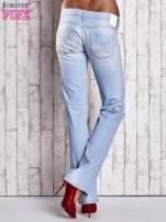 Niebieskie spodnie jeansowe z prostą nogawką                                  zdj.                                  2