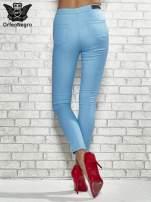 Niebieskie spodnie rurki skinny                                  zdj.                                  2