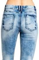 Niebieskie spodnie skinny jeans ripped knee                                  zdj.                                  5
