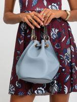 Niebiesko-szara torebka z łańcuszkiem                                  zdj.                                  3