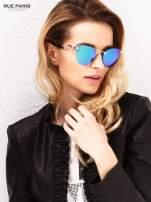 Niebiesko-zielone okulary przeciwsłoneczne stylizowane na FENDI